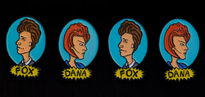 Dana and Fox Pins