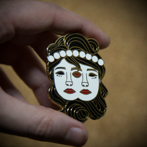 Gemini (Gem In Eye) Enamel Pin