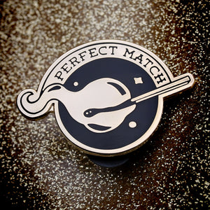 Perfect Match enamel pin
