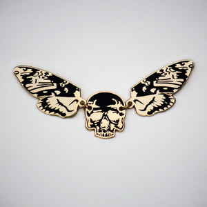 gold moth pin