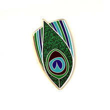 Peacock Feather Enamel Pin