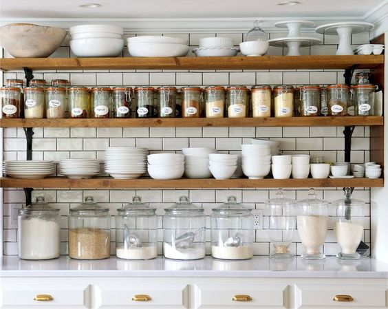 zero waste pantry kitchen goals glass jar label removal