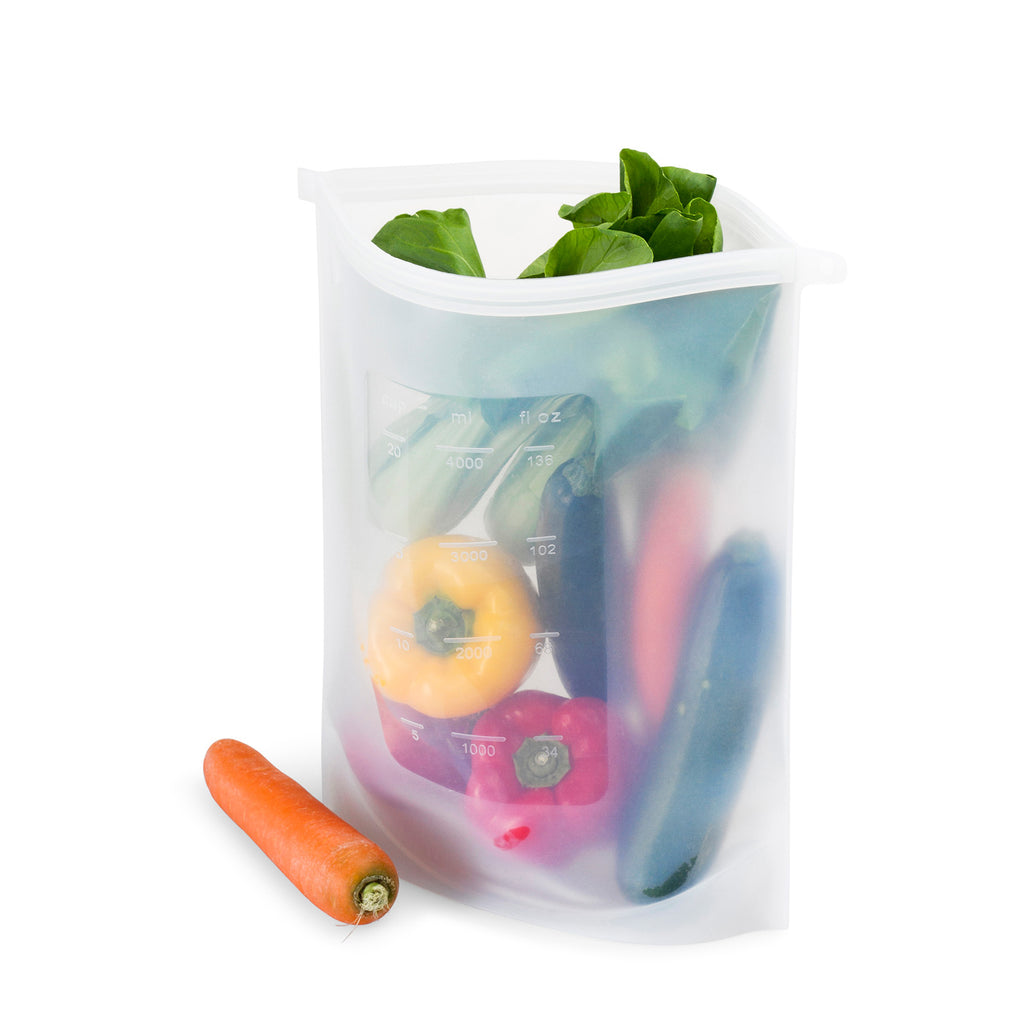 giant size eco friendly silicone food fresh pouch ziplock bag seed and sprout