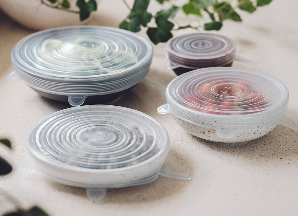 silicone reusable stretch lids