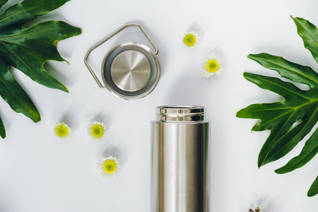 Stainless steel lid drink flask insulated