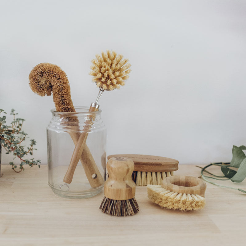 Eco plant fibre scrubbing brushes