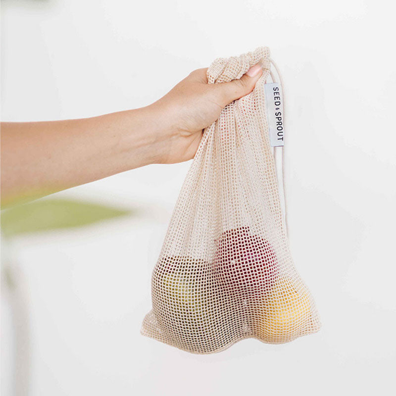 organic cotton mesh produce bag set