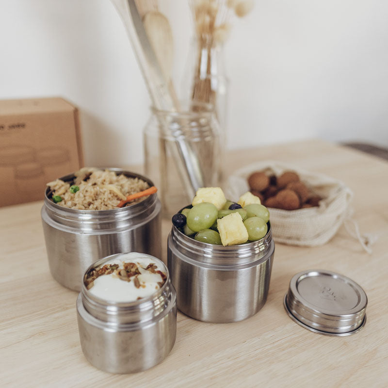 Leak-proof eco food jars stainless steel seed and sprout
