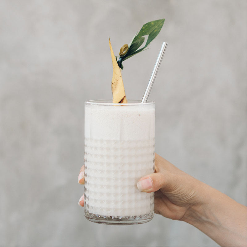 Stainless steel straws with cleaner