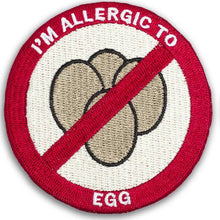 """I'M ALLERGIC TO EGGS"" allergy patch"