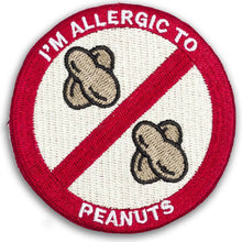 """I'M ALLERGIC TO PEANUTS"" allergy patch"