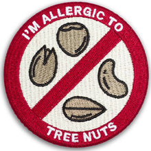 """I'M ALLERGIC TO TREE NUTS"" allergy patch"