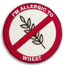 """I'M ALLERGIC TO WHEAT"" allergy patch"