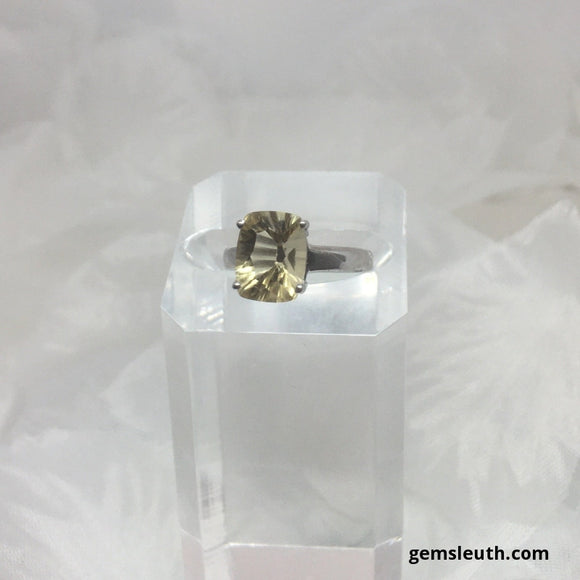 Size 5 (UK J-K), Citrine, Sterling Silver Ring tgw, 1.75 cts
