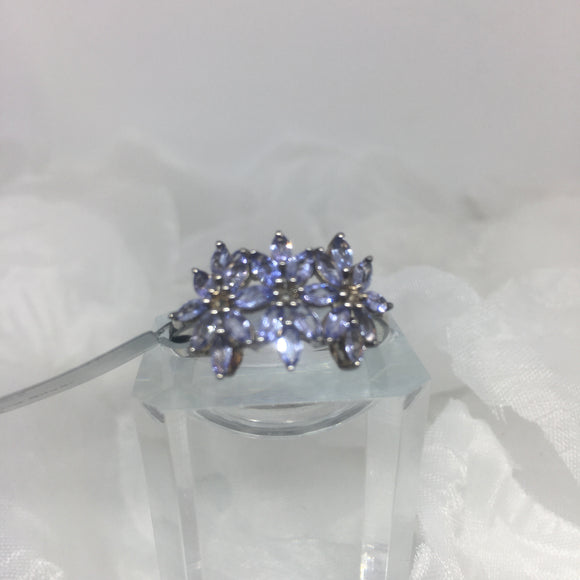 Size 9, Tanzanite, Sterling Silver Ring tgw, 1.5 cts