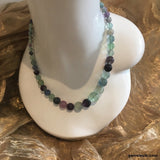 Fluorite, Sterling Silver Necklace tgw, 321.1 cts