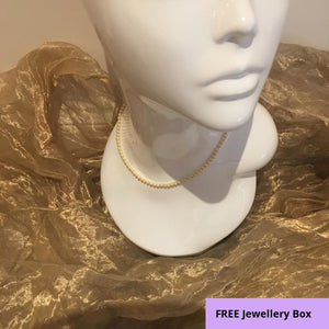 A Classic Lotus Pearl Necklace (Choker) in original vintage box