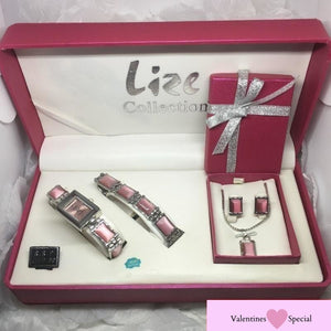 A Four Piece, Lize Pink Gem Collection Gift Set (RRP $99)