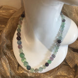Fluorite, Sterling Silver Necklace tgw, 626.5 cts