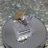Size 9, Rutile Quartz, Sterling Silver Ring tgw, 12.2 cts (with FREE ring size adjuster)