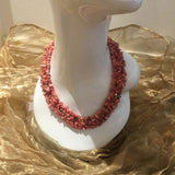 Rhodochrosite , Sterling Silver Necklace tgw, 700 cts