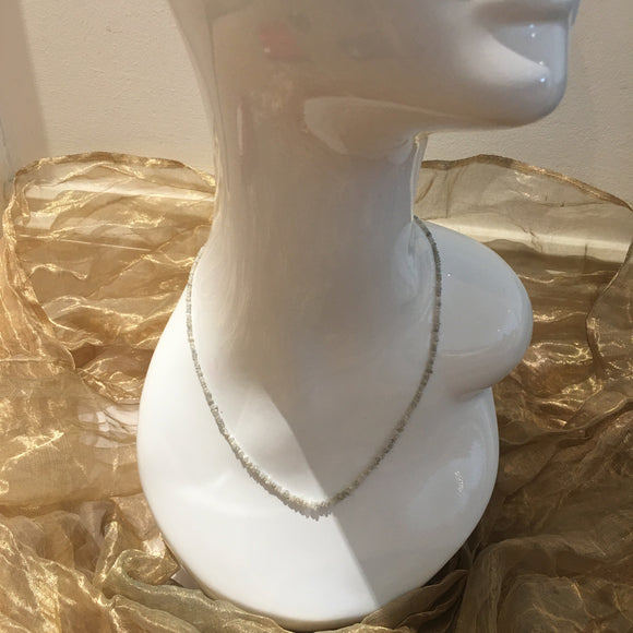 White Diamond, Sterling Silver Necklace tgw, 20 cts