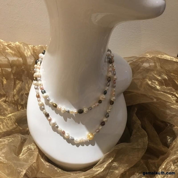Multi Colour Pearl, Necklace (SKU 159)