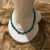 Malachite, Sterling Silver Necklace, 18 inch