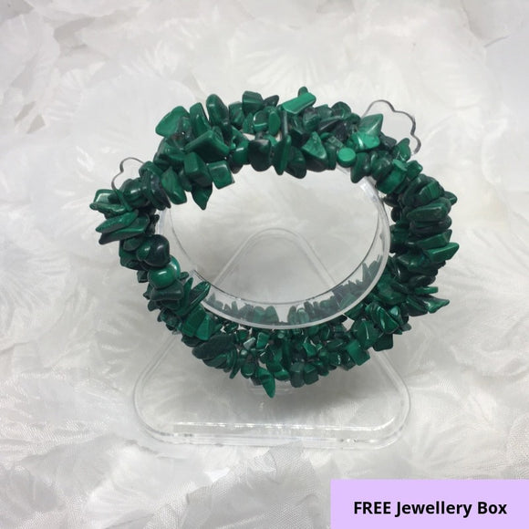 Malachite, Stretch Bracelet