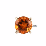 AA Madeira Citrine Stud Earrings (with Push Back) 0.50 Ct. in Sterling Silver