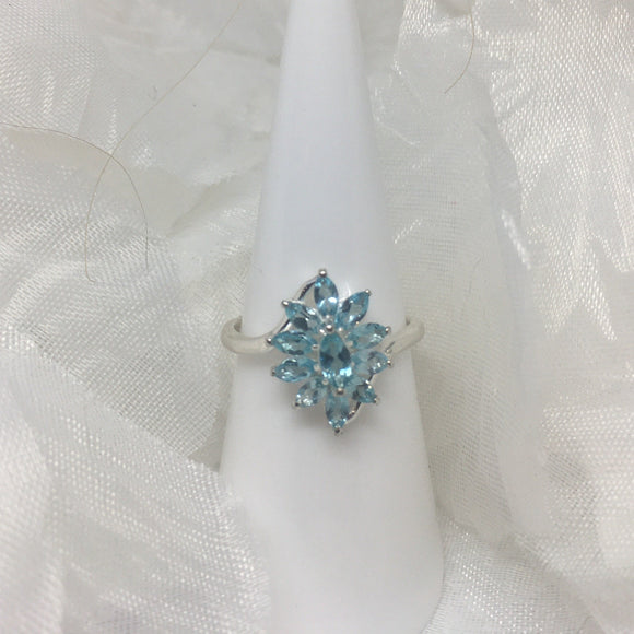 Paraibe Apatite (Mrq) Ring (Size Q) in Sterling Silver, 2.07 cts