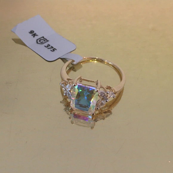 Limited Edition Mercury Mystic Topaz & White Zircon 9K Gold Ring, Size N-O, 3.06cts