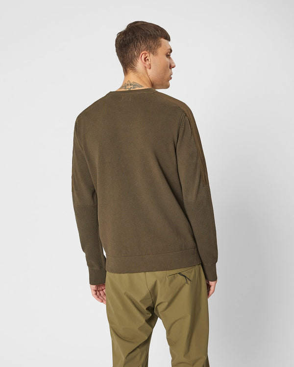 C.P. COMPANY Cotton Mixed Lens Crew Sweat Forest Night