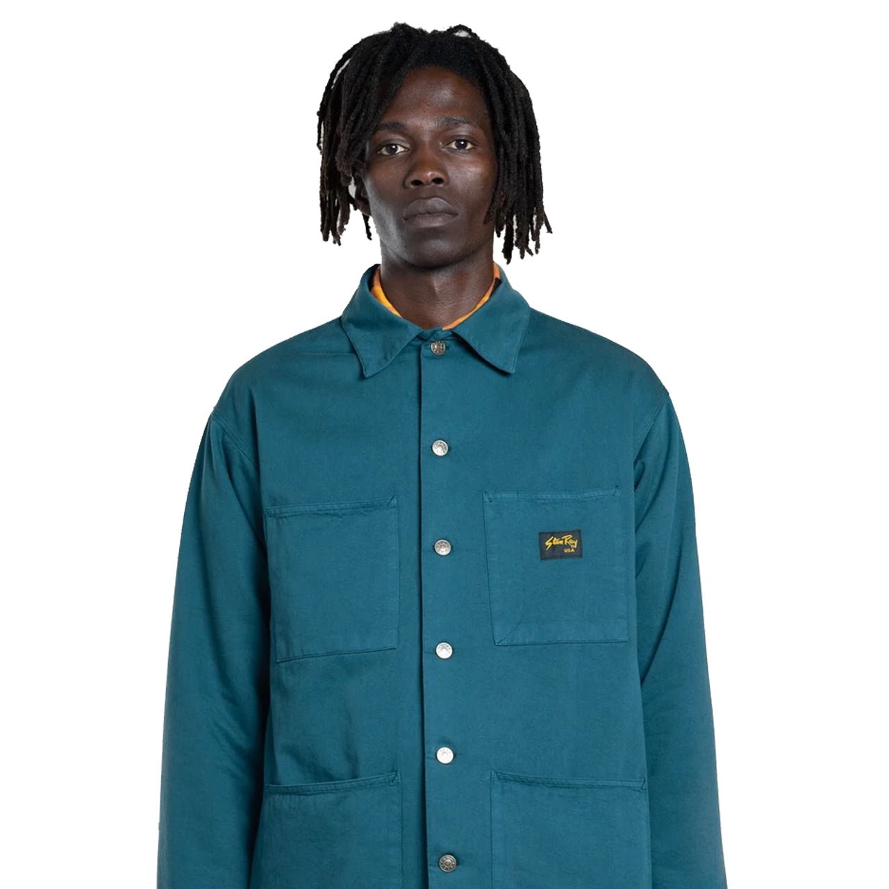 Stan Ray LINED SHOP JACKET CARBON GREEN
