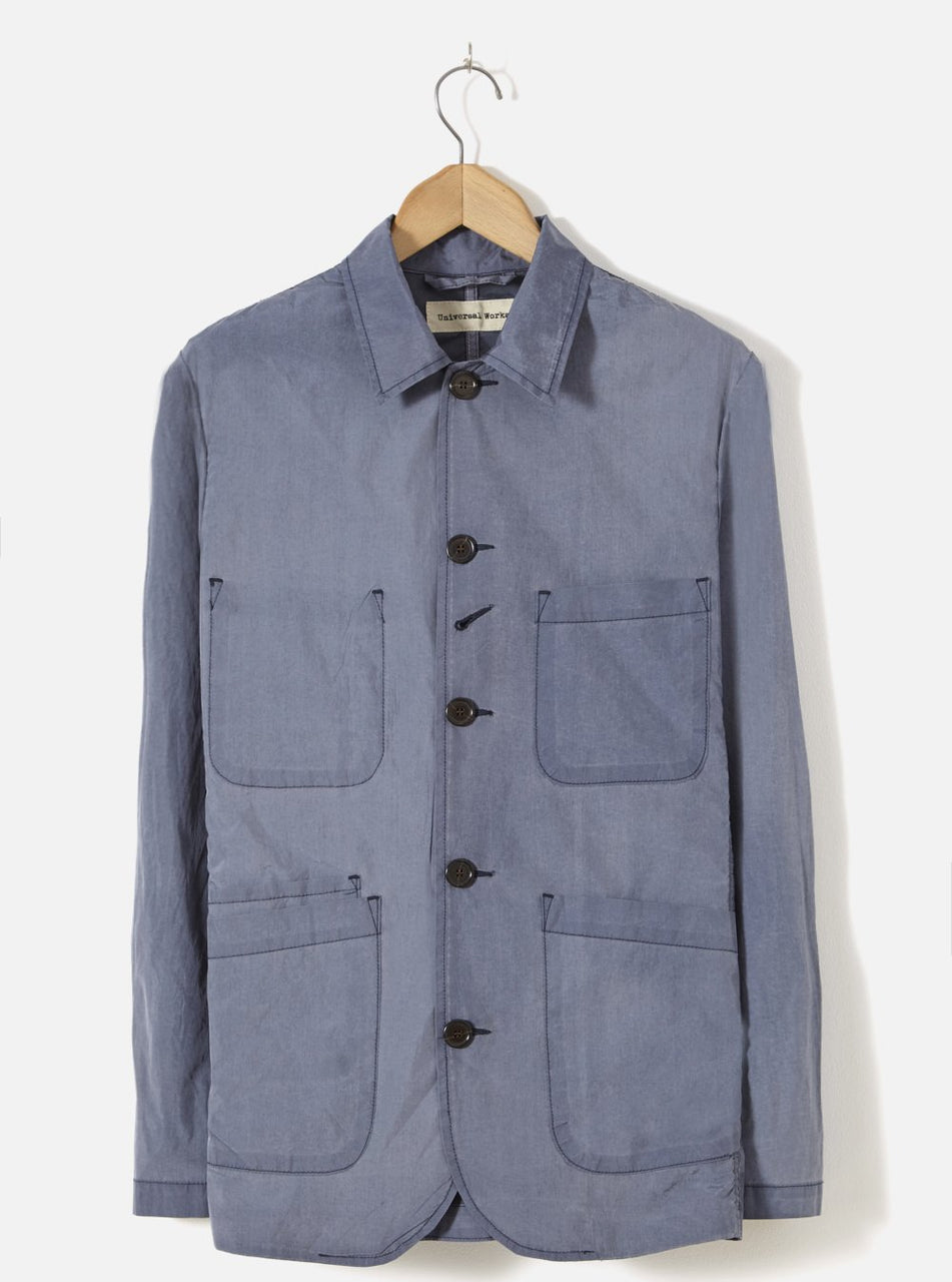 Universal Works Bakers Jacket In Navy Nylon