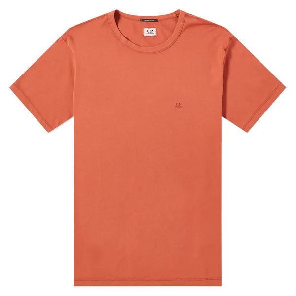 C.P. COMPANY Chest Printed Small Logo Tee Burnt Ochre