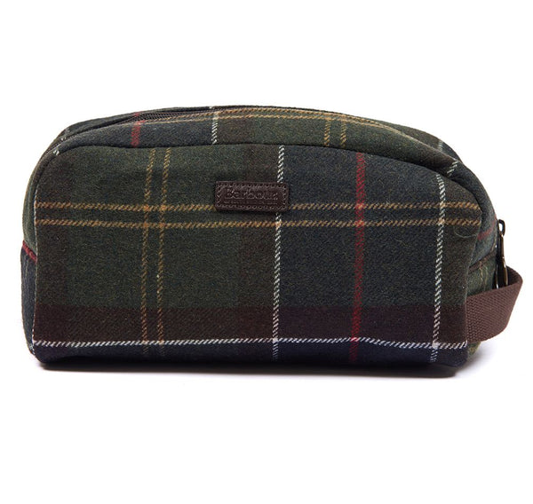 BARBOUR TARTAN WOOL WASH BAG Classic Check
