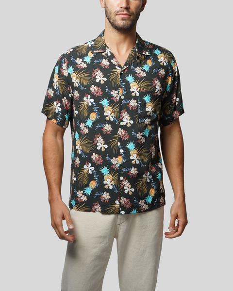 PORTUGUESE FLANNEL Tropical Fruit Shirt Black