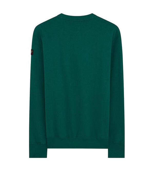 PAUL & SHARK Yachting League Logo Sweatshirt In Dark Green
