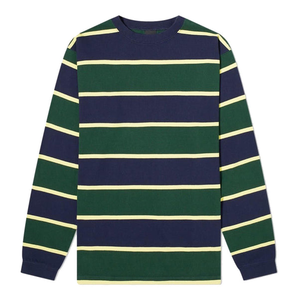 Manastash Long Sleeve Rugby Stripe T-Shirt Navy Green