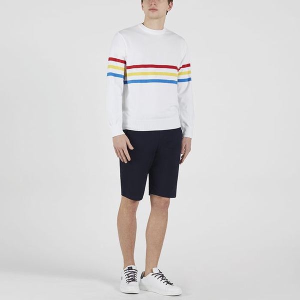 PAUL & SHARK Striped Organic Cotton Crew Neck