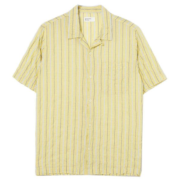 UNIVERSAL WORKS Road Shirt In Yellow Ranch Stripe
