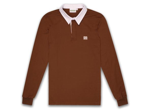 HIKERDELIC FELLOW RUGBY SHIRT - CAMEL BROWN