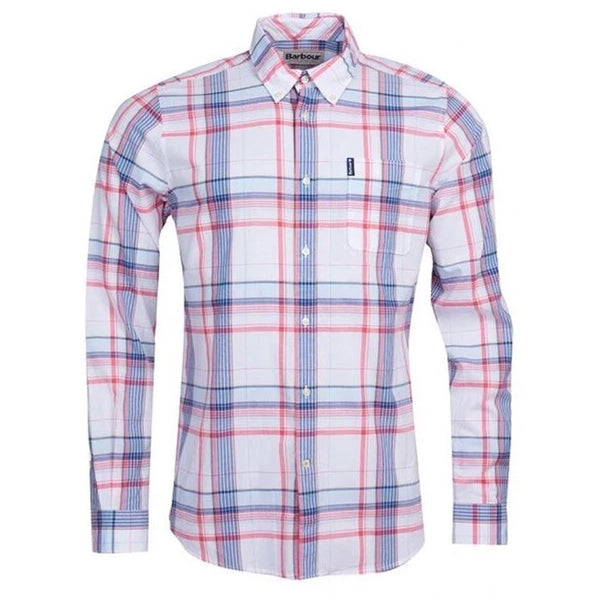 BARBOUR Madras 4 Tailored Shirt Sky Blue