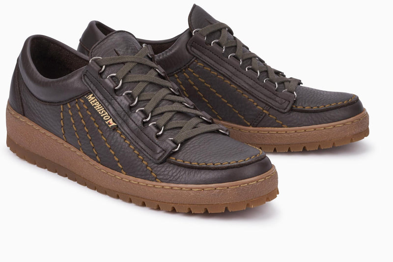 MEPHISTO Rainbow Brown Leather Shoes