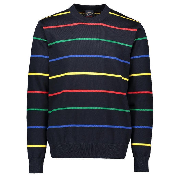 PAUL & SHARK Wool Striped Crew Neck Sweater