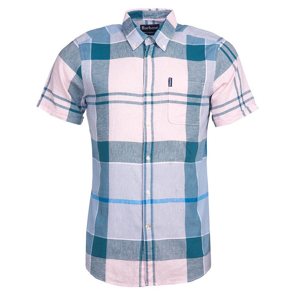 BARBOUR Douglas Short Sleeved Shirt Pink