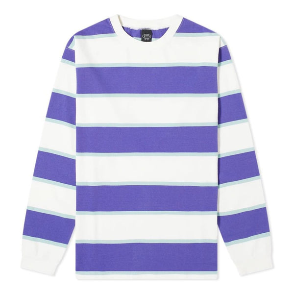 Manastash Long Sleeve Rugby Stripe T-Shirt White Purple