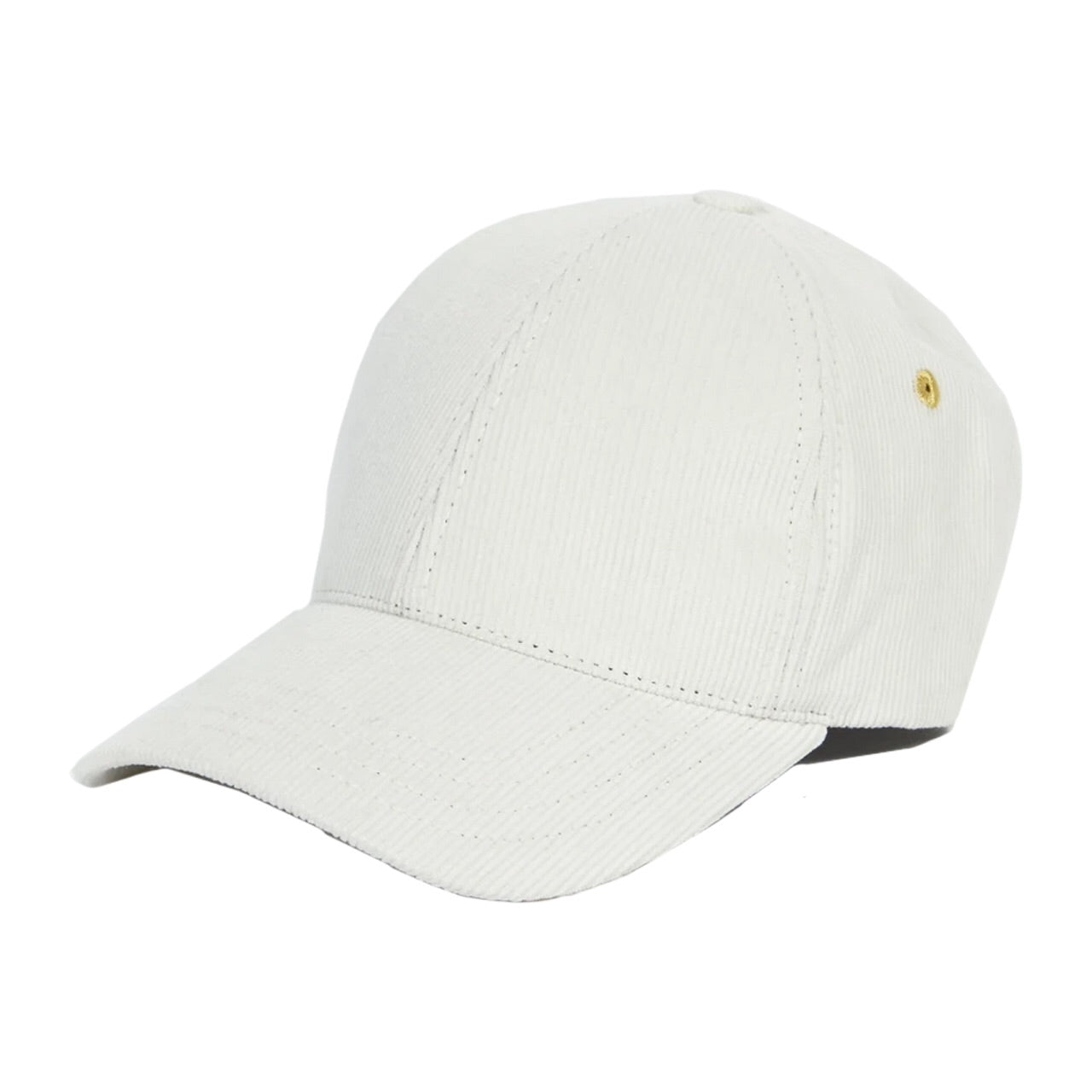 Universal Works 6 Panel Cap In Ecru Chapman Cord