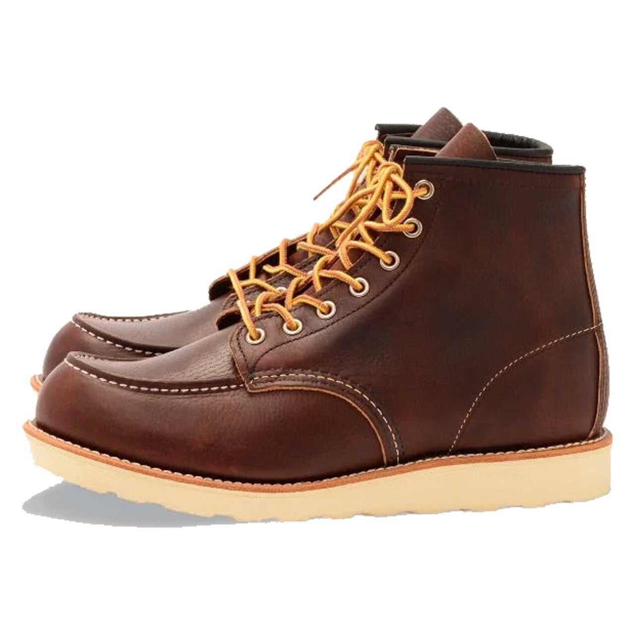 RED WING CLASSIC MOC STYLE NO. 8138 BROWN LEATHER